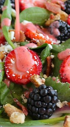 Berry Spinach Salad with Strawberry Lime Vinaigrette
