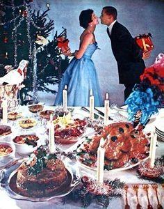 24 super Ideas for vintage christmas dinner families Vintage Christmas Party, Retro Christmas Decorations, Vintage Christmas Photos, 1950s Christmas, Modern Christmas, Vintage Holiday, Christmas Pictures, Family Christmas, Christmas Time