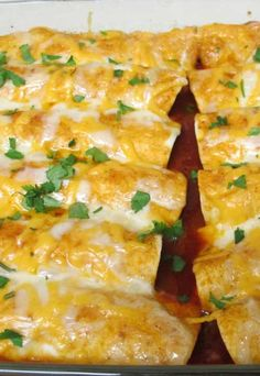 Recipe for Cheesey Chicken Enchiladas - I REALLY wanted some enchiladas last week. This recipe was so easy, I may just not go out for Tex-Mex ever again!