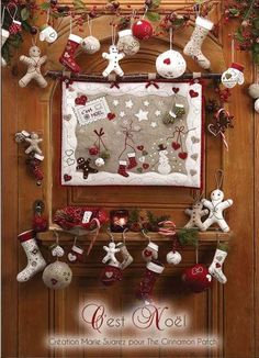 When it comes to Christmas decor, I love country sweet :)