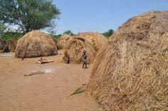 Mursi village - Mago National Park, Omo Valley, Ethiopia. https://ExploreTraveler.com