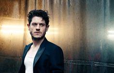 Iwan Rheon pictured in a Lanvin blazer for Interview magazine.