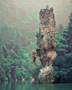 Elephant rock in China. | PC: Marcel Laverdet by tentree