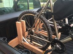 Truck Bed Bicycle Rack Need Ideas About Homemade Pickup Bike Racks Diy Frank Wood Bike Rack, Pvc Bike Racks, Truck Bed Bike Rack, Diy Bike Rack, Bike Storage Rack, Bike Holder, Bicycle Rack, Bike Racks For Trucks, Rack Velo