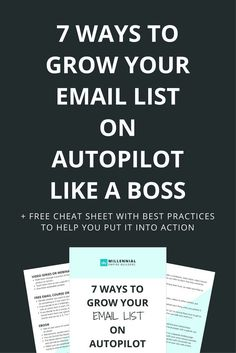 Regardless of your industry, growing your email list is one of the most important things you can do for your business... but constantly finding new leads who are willing to raise their hand and say they're interested in doing business with you isn't alway