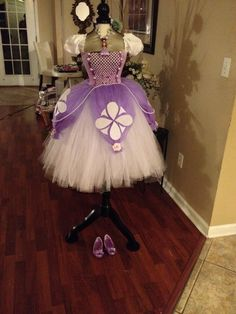 This is a adorable Sofia tutu dress, one of kind. I tried to make this to resemble her dress as much as possible. by TuTuGenie on Etsy https://www.etsy.com/listing/182501050/this-is-a-adorable-sofia-tutu-dress-one