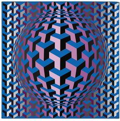 Victor Vasarely - Epoff, 1969. Acrylic on canvas
