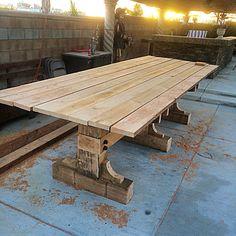 Viking table 14 feet long X 5 feed wide