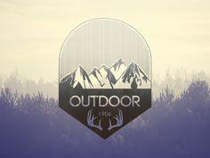 Outdoor - Vintage badge by sophie rousseau  #dribbble #illustration #tree #vector #design #print #badge #illustrator #tree #vintage #wild #outdoor