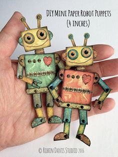 DIY Paper Robot Download Mini Jointed Robot by RobinDavisStudio
