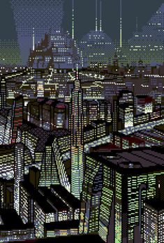 when kevin wins the planet loses Cyberpunk Aesthetic, Cyberpunk City, Neon Aesthetic, Pixel City, Rpg Map, Sci Fi City, Pixel Art Grid, Pix Art, Anime City