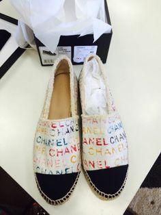 Chanel Canvas 14S Espadrilles Graffiti CANVAS MULTI COLOR Euro 40 Size 9