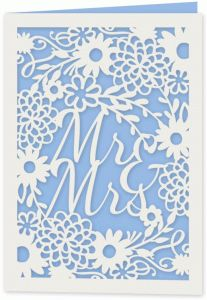 """Silhouette Design Store - View Design #81112: floral wedding 5x7"""" card"""