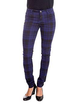 78b563bdb32f2f Suko Jeans Women's Stretchy Plaid Skinny Pants Jeggings 17232 GREY/BLACK 3. Flannel  Lined ...