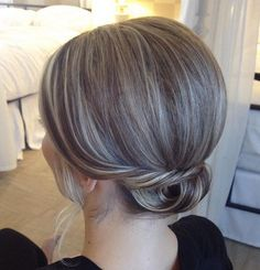 low formal updo for short hair