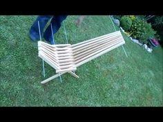 fabriquer une chaise pliante avec des tasseaux. - YouTube