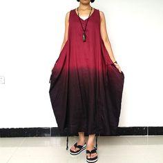 Linen Summer Sleeve Loose Sleeveless Dress