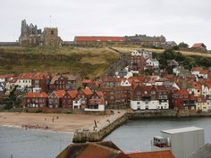 East Cliff - Whitby.  Bram Stoker's Dracula was partially set in this town.