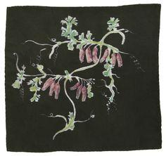Caitlin Hinshelwood Hand Painted Dicentra Silk Handkerchief