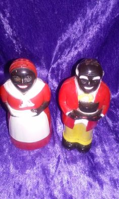 Vintage Aunt Jemima and Uncle Mose Salt+Pepper Shakers Set Madeby F&J Mold  Die Works,Dayton,OHIO, Made in U.S.A.,CheckOutAll5Pics.Bakelite by DWedgeCreations on Etsy