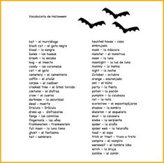 Use the Spanish Halloween vocabulary list with language learners.