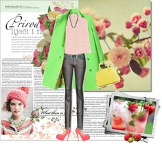 """Touches of Spring"" by hatsgaloore ❤ liked on Polyvore"
