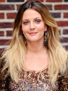 Drew Barrymore's hair color - click through to see more of the best celebrity ombré hairstyles of all time -