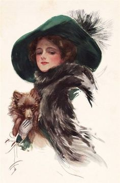 Shop Harrison Fisher Girl in a Teal Hat Postcard created by AlabasterRose. Personalize it with photos & text or purchase as is! Belle Epoque, Vintage Ephemera, Vintage Postcards, San Francisco Art, Gibson Girl, Victorian Women, Victorian Art, Gravure, Vintage Pictures