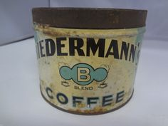 Vintage Biedermann's Brand Coffee Tin Advertising Collectible Graphics G 429 | #Antique #CoffeeTins