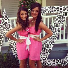Delta Zeta pink recruitment dresses