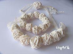 polymerc clay neckalce, handmade. aviable on www.clayartitalia.com