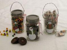 Decorate candy jar - snowman
