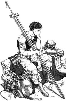 BERSERK (Kentaro Miura), Guts, Helmet, Muscles, Huge Weapon