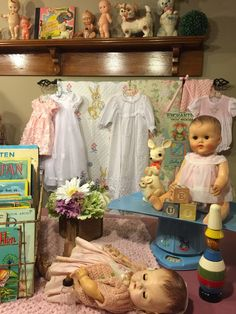 Doll room----this looks like my Sunny Tears Bannister Baby!