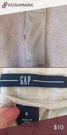 GAP Capris Great pair of GAP capris in a neutral khaki color. Excellent used condition. GAP Pants Capris