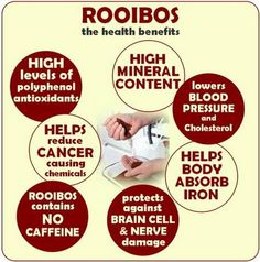 Health benefits from our South African homegrown Rooibos tea.