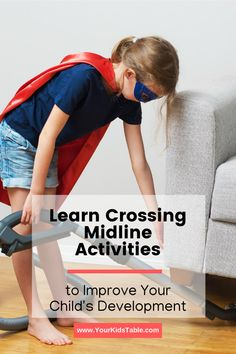 Why you need to know what crossing midline is for your child's development! Plus, 6 therapeutic crossing midline activities you can do at home easily.