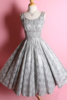 SHIMMERING 1950's Designer New Look Party Dress by butchwaxvintage