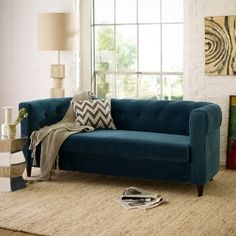 chester tufted upholstered sofa west elm  77w x 31.5 d x 29h special fabrics available