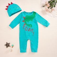 Blue Infant Boy one Piece Pterodactyl Dinosaur Patterns jumpsuit Outfit Baby Boy Jumpsuit, Dinosaur Pattern, Jumpsuit Pattern, Online Clothing Stores, Wetsuit, Kids Fashion, Infant, One Piece, Boys