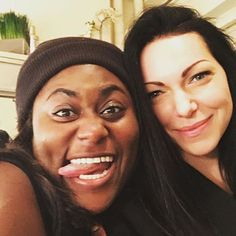 Orange is the New Black - Danielle Brooks and Laura Prepon