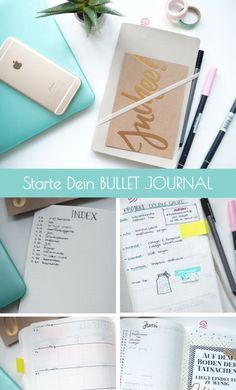 Bullet Journal - Organizer, To-Do-Liste und Tagebuch in einem, Bullet Journal Paper, Bullet Journal Layout, Bullet Journal Inspiration, Journal Ideas, Organization Bullet Journal, Planner Organization, Bullet Journalindex, Doodle Lettering, Wreck This Journal