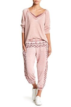 Embroidered Soft Pants