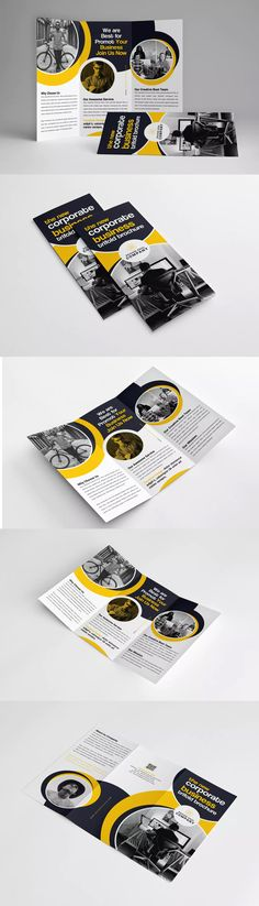 Trifold Brochure Template PSD #unlimiteddownloads
