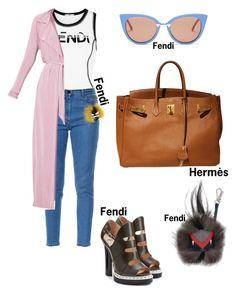 """#fashion #minifashionicon"" by minifashionicon on Polyvore featuring Fendi and Hermès"