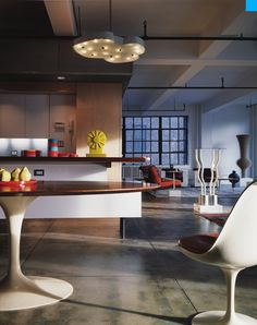 This spectacular loft, Frank and Amy's in Gritty Hell's Kitchen neighborhood in New York,was designed by Resolution 4 Architecture.
