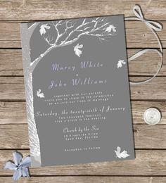 21b368696ca9a82c5245b6081886fd30 wedding invitation kits winter wedding invitations rustic winter wedding invitation set oak tree country wedding,Winter Wedding Invitation Kits