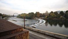 Po river in Turin, autumn view