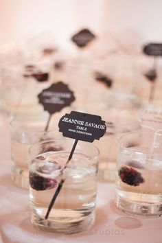 Germaine, club soda, splash of prosecco blackberry. Photo by Ira Lippke Studios. Food Fun and Love: Celebrating Love Beauty: Alicia Joels Wedding Wedding Reception Places, Wedding Place Cards, Fall Wedding, Wedding Venues, Wedding Trends, Wedding Ideas, Diy Wedding, Wedding Decor, Nautical Wedding