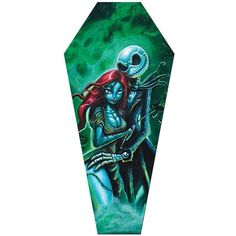 Lowbrow Art Jack Sally Coffin Canvas Giclee by Joey Rotten ❤ liked on Polyvore featuring home, home decor, wall art, giclee wall art, canvas home decor and canvas wall art
